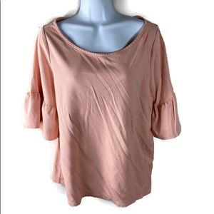 Lane Bryant Blush Pink Abel Sleeve Top 14/16